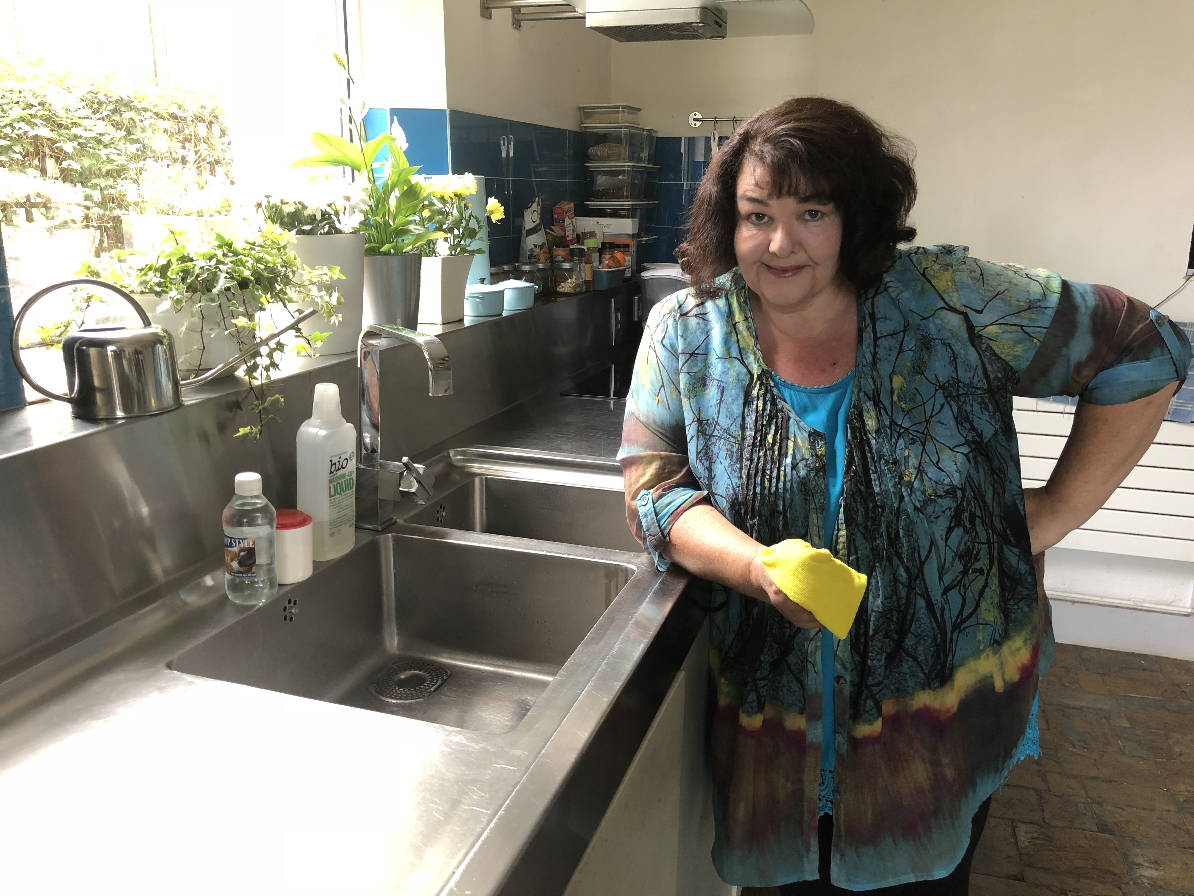 penney in kitchen, airtopia